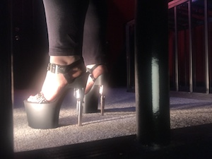 Mistress Rage femdom findom humiliatrix high heels fetish feet barefoot dungeon bdsm